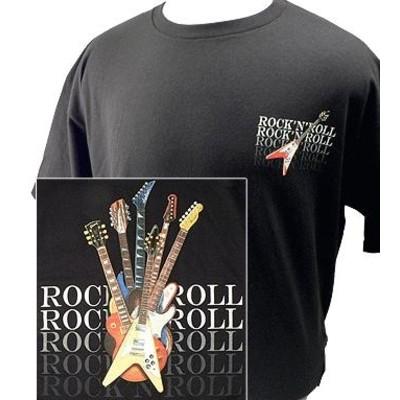 Rock N Roll Guitars T-Shirt - 2XL - Aim - 10637XXL