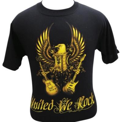 United We Rock T-Shirt - 2XL - Aim - 45505XXL