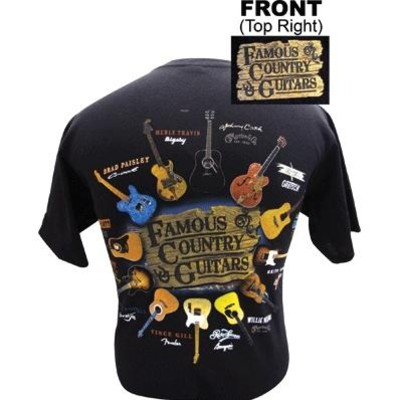 Famous Country Guitars T-Shirt - XL - Aim - 45510XL