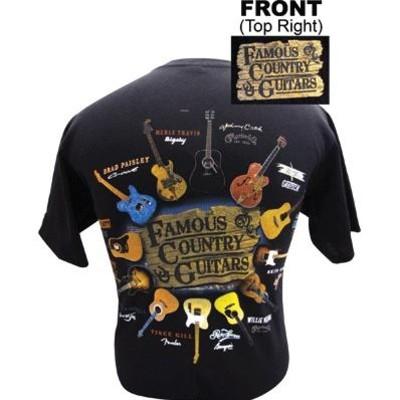 Famous Country Guitars T-Shirt - 2XL - Aim - 45510XXL