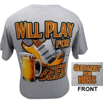 Will Play for Beer T-Shirt - 2XL - Aim - 45582XXL