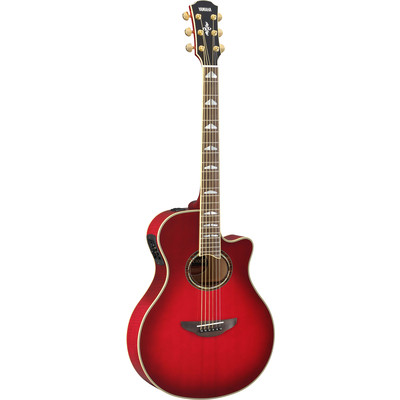 Yamaha APX1000 Thin-Line Acoustic Electric Guitar - Crimson Red Burst - Yamaha