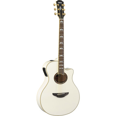 Yamaha APX1000 Thin-Line Acoustic Electric Guitar - Pearl White - Yamaha