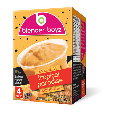 Blender Boyz Tropical Paradise Smoothie Mix - 24 Pack