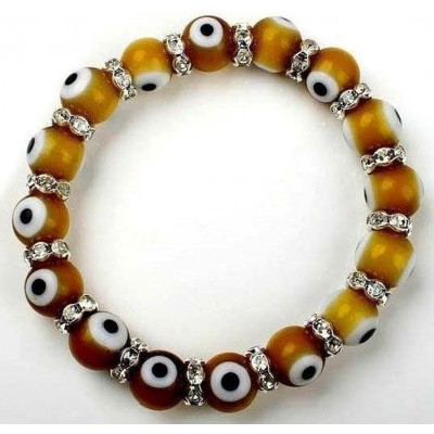 Evil Eye Charms Bracelet - Brown