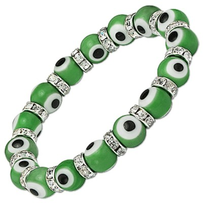 Evil Eye Charms Bracelet - Green