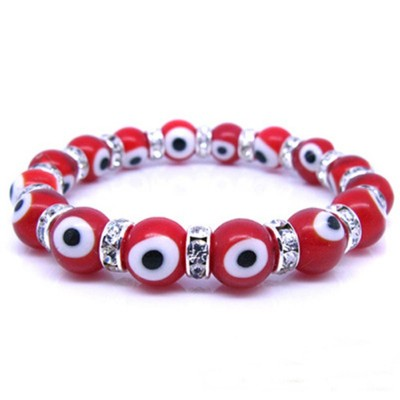 Evil Eye Charms Bracelet - Red