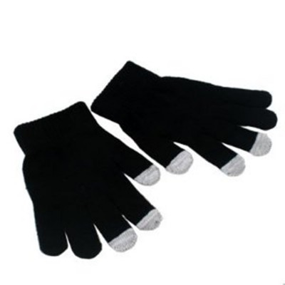 2 X Touchscreen Gloves - Black Color