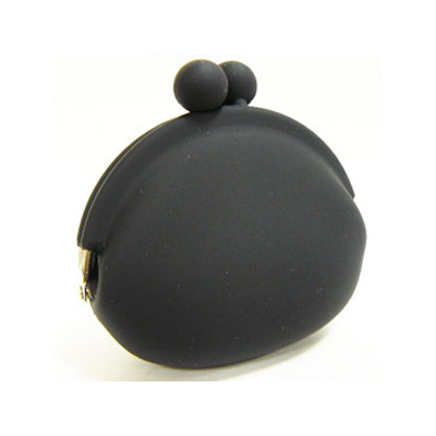 Silicone Frog Design Coins Purse - Black Color