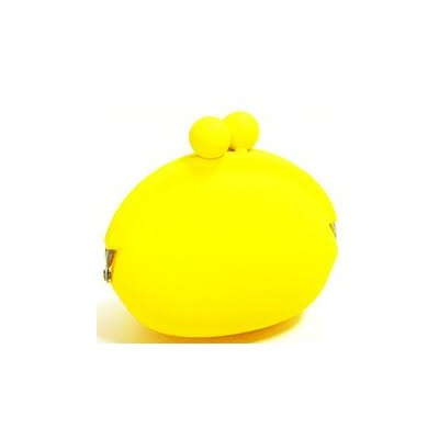 Silicone Frog Design Coins Purse - Yellow Color