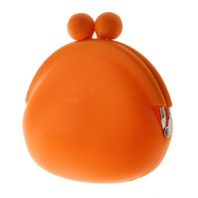 Silicone Frog Design Coins Purse - Orange Color