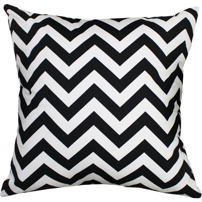 Black and White Chevron Pillow Cover