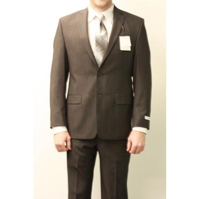 Calvin Klein slim fit suit (charcoal herringbone)