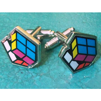 Rubik's Cuff Links