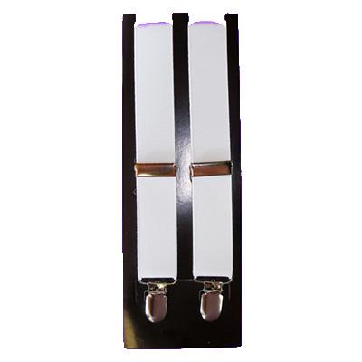Men's white clip suspenders (clip on)