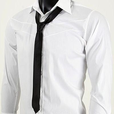Men's black skinny tie