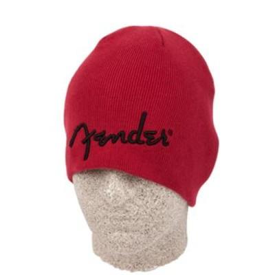 Fender Logo Beanie - Red - Fender - 910-6111-709