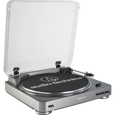 Audio-Technica AT-LP60 Fully Automatic Stereo Turntable System - Silver