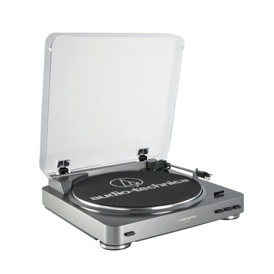 Audio-Technica AT-LP60-USB LP-to-Digital Recording System - Silver (AT-LP60USB)