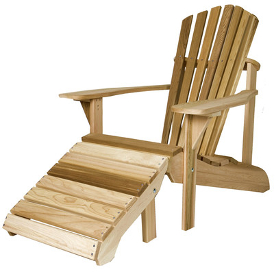 CEDAR Adirondack Chair with Ottoman