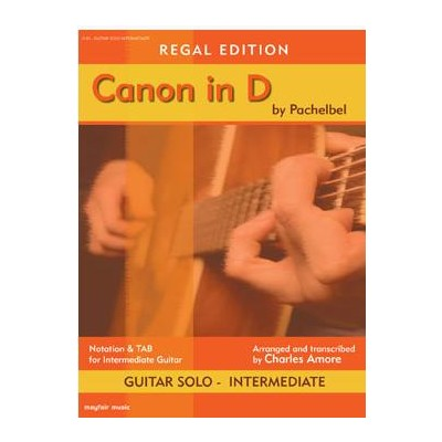 Music Canon in D for Intermediate Guitar - Mayfair Music - J140