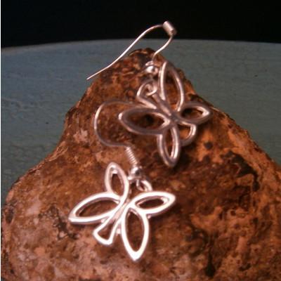 Beautiful Butterfly Silver Earrings