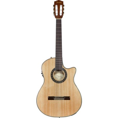 Fender CN-240SCE Thinline Classical Solid Top - Rosewood Fingerboard - Fender - 096-0326-021