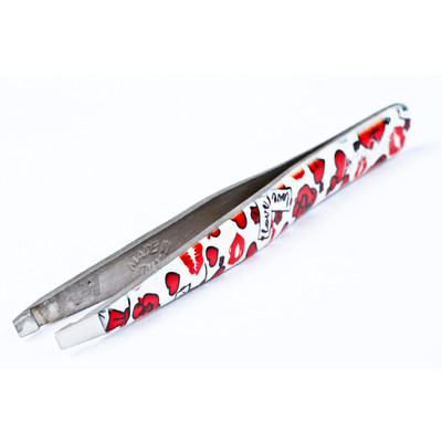 ArteStile Collection - Hugs & Kisses Slant Tip Tweezers (Made in Italy)