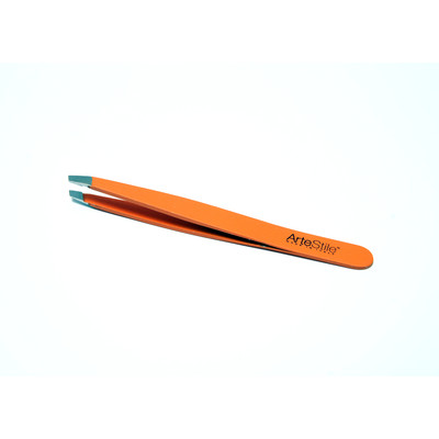 ArteStile Soft Touch Tweezers - Orange (Made in Italy)