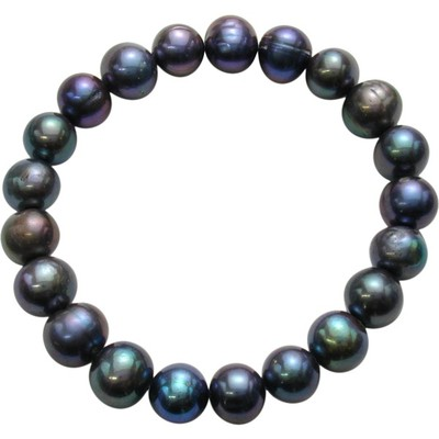 9-10mm Peacock Freshwater Pearl Stretch Bracelet