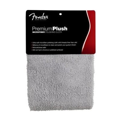 Fender Premium Plush Microfiber Polishing Cloth - Gray - Fender - 099-0525-000
