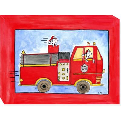 BIG RED canvas art 18x24