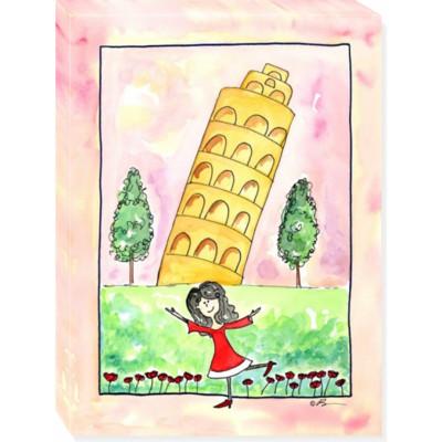 GIRL IN ITALY canvas art