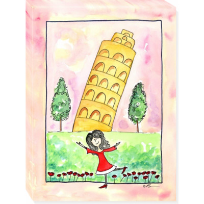 GIRL IN ITALY canvas art 18x24
