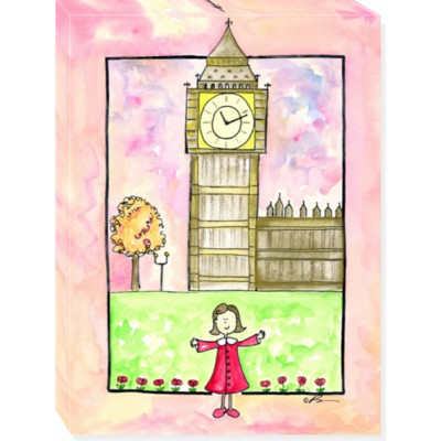 GIRL IN LONDON canvas art 18x24
