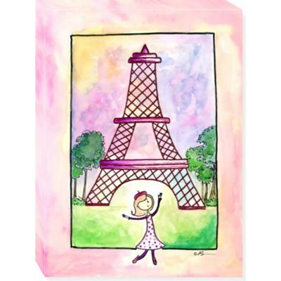 GIRL IN PARIS canvas art 18x24