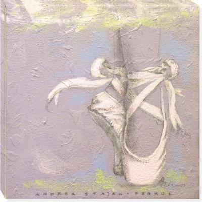 BALLERINA'S SHOE canvas art 14x14