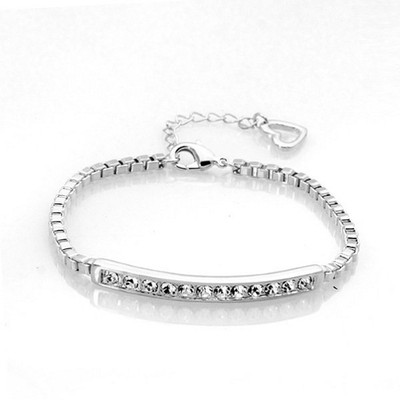 Platinum Plated Italina Tennis Bracelet