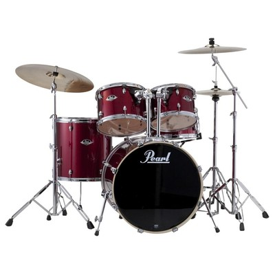 Drum Kit Pearl Export 22,10,12,16,14 w/Hw Red Wine - Pearl - EXX725SC 91