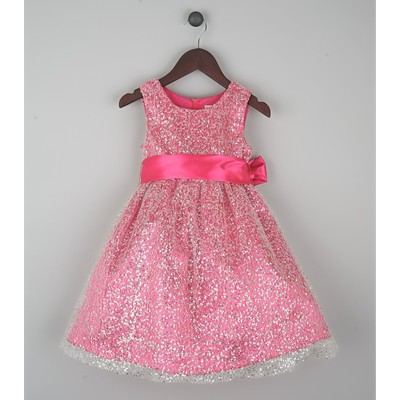 Joe-Ella Girl's Sequined Party Dress - Princess