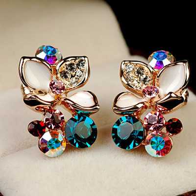 18K Gold Plated Camellia Earring