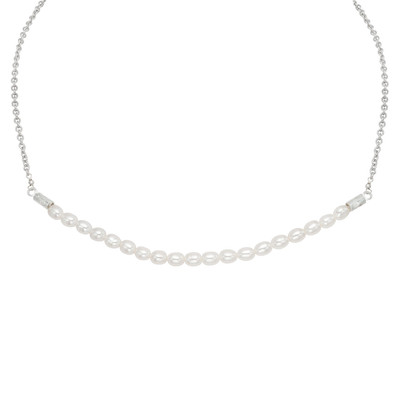 Sterling Silver White Freshwater Pearl Necklace (5-6 mm)