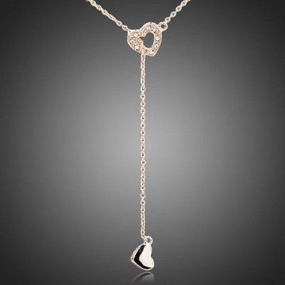 18K Gold Plated Linked Hearts Pendant