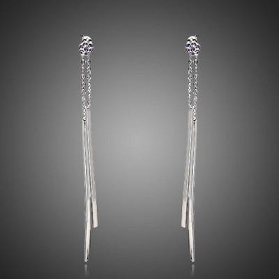 18K Gold Plated Metal Drop Earrings
