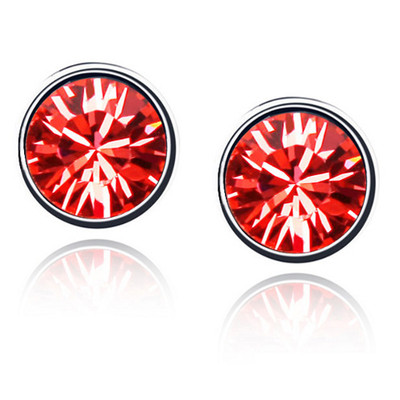 Swarovski Elements Crystals Red Round Studs