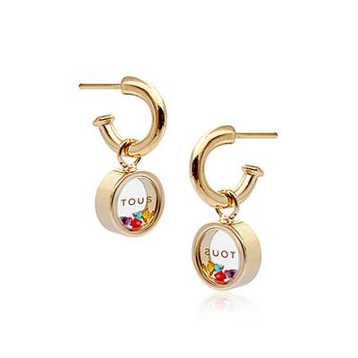 18K gold Plated Multistone Drop Earrings