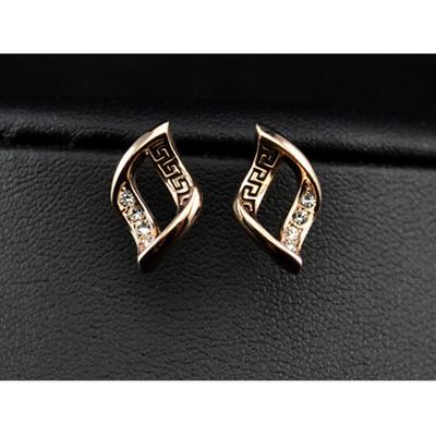 18K Gold Plated Swirl Stud Earrings