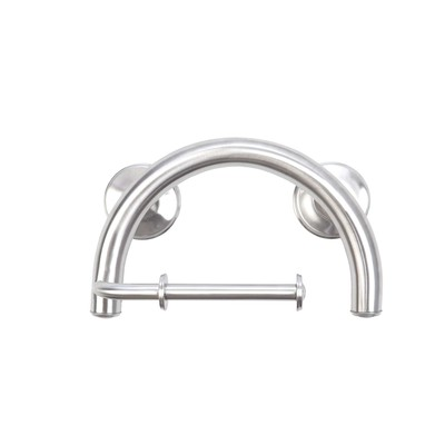 2-IN-1 Grab Bar & Toilet Paper Holder(Brushed Nickel)