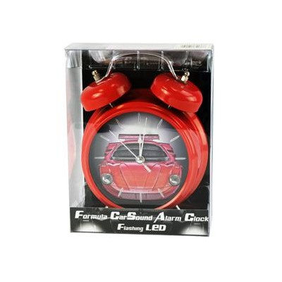 Formula car sound alarm clock with flashing led - RED