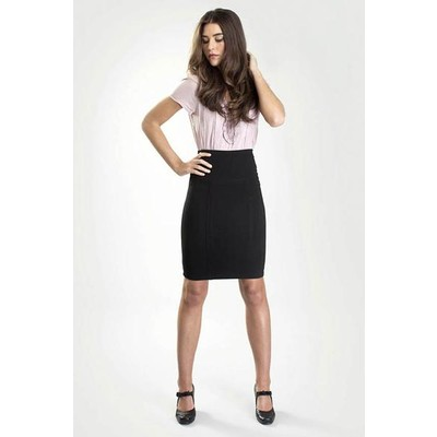 Black pencil skirt with built-in shapewear